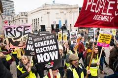 Anci rządowi protestujący przy Brytania Są Łamanego, wybór powszechny demonstracją w Londyn/Teraz obrazy stock