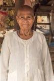 Anciano Camboya del pueblo cerca de Siem Reap Fotografía de archivo libre de regalías