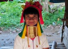 Anciano larga de la tribu de Karen del cuello Foto de archivo libre de regalías