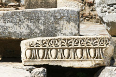 Anciant ruins, Ephesus. Ancient ruins in one of the most beautiful structures in Ephesus, Turkey Stock Images