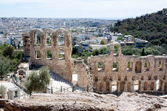 An anciant theatre of Acripolis in Athens Greece Stock Images