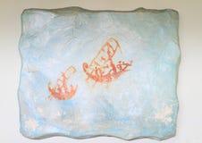 Anciant-Zeichnung von Schiffen Stockbild