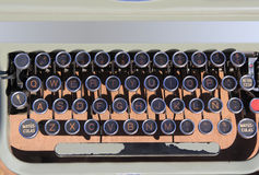 Ancien aged typewriter vintage retro qwerty. Ancient aged typewriter vintage retro qwerty keyboard spanish Royalty Free Stock Photography