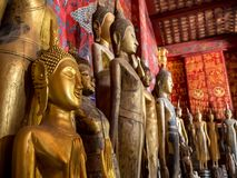 Ancien buddhas royalty free stock photo