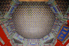 Ceiling decoration of Ancient palace Stock Photos