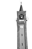 ancien clock tower in it  aly europe old  stone and bell Royalty Free Stock Images