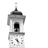 ancien clock tower    in italy europe old  stone and bell Royalty Free Stock Images