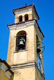 Ancien clock tower in italy europe old  stone Royalty Free Stock Images