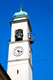 ancien clock tower in italy europe old  stone and Royalty Free Stock Photography