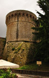 Ancien defence tower of Volterra, Tuscany, Italy Stock Photo