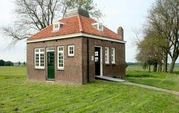 Ancien logement du gardien de phare sur l'ancienne île de Schokland photo libre de droits