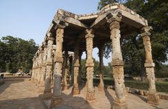Ancien mosque in Qutub minar Stock Photos
