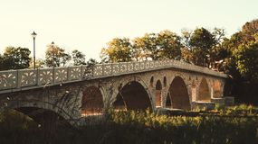 Ottoman Gorica bridge. Ancien ottoman Gorica bridge in Berat Royalty Free Stock Image