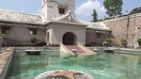 Ancien palais de Java-Centrale, Indonésie de sultan indonésien : château de sari de taman, Jogjakarta clips vidéos