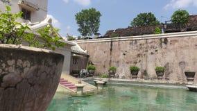 Ancien palais de Java-Centrale, Indonésie de sultan indonésien : château de sari de taman, Jogjakarta banque de vidéos