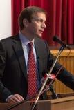 Ancien premier ministre de la Hongrie, M. Gordon Bajnai Images libres de droits