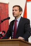 Ancien premier ministre de la Hongrie, M. Gordon Bajnai Image libre de droits