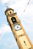 ancien tower in italy europe  and bell Royalty Free Stock Image