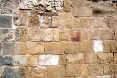 Ancien-Wand vom Braun entsteint Vorderansicht Stockbild