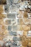 Ancien-Wand vom Braun entsteint Vorderansicht Stockfoto