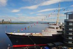 Ancien yacht royal Britannia à Edimbourg photos stock