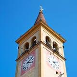 ancien zegarowego t ower w Italy Europe starym kamieniu i dzwonie Fotografia Stock