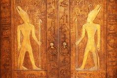 Ancieng gaet i egyptiska pyranides Egypten bakgrund Väggmålningar Royaltyfria Foton