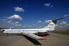 Ancienne Aeroflot Ilyushin IL-62M RA-86492 se tenant à l'aéroport international de Sheremetyevo Photo stock