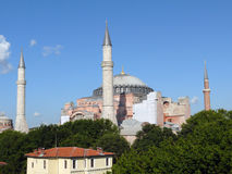 Ancienne cathédrale et mosquée actuelle Hagia Sophia Image libre de droits