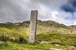 Ancienne frontière entre Cumbria et Lancashire images stock