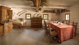 Ancienne pièce intérieure de chef militaire Photo libre de droits