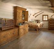 Ancienne pièce intérieure de chef militaire Images libres de droits
