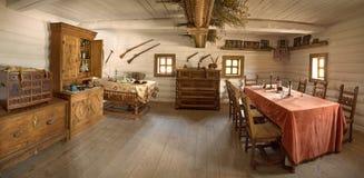 Ancienne pièce intérieure de chef militaire Photographie stock libre de droits