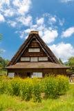 Ancienne résidence de Nakano Chojiro dans le village de style de gassho d'Ogimachi images libres de droits