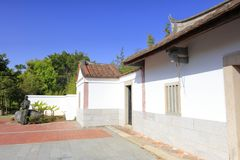 Ancienne résidence de reproduction de linyutang, adobe RVB image stock