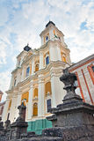 Ancienne université de jésuite dans la ville de Kremenets (Ukraine). Photos stock