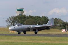 Anciennes RP électriques anglaises de Royal Air Force Canberra 9 avions de reconnaissance photographique G-OMHD ont fonctionné pa photos stock