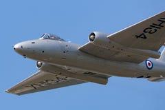Anciennes RP électriques anglaises de Royal Air Force Canberra 9 avions de reconnaissance photographique G-OMHD ont fonctionné pa image stock
