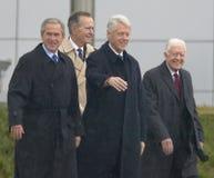 Anciens présidents des États-Unis Images libres de droits