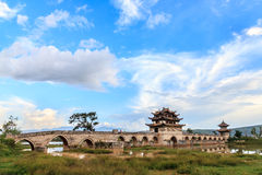 Ancient 16 arches bridge in south China Royalty Free Stock Photography