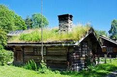 Ancient 18th century Norwegian houses Stock Photography