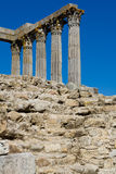 Ancient 1st century Roman temple. Of Diana in Evora, Portugal royalty free stock photography