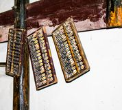 Ancient Abacus of China royalty free stock photography
