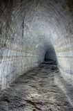 Ancient abandoned gallery. Old abandoned coal mine adit stock image
