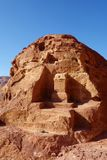 High Place of Sacrifice in the ancient town of Petra, Jordan, Middle East stock photos
