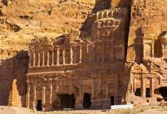 Ancient abandoned rock city of Petra in Jordan Stock Photos