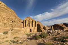 Ancient abandoned rock city of Petra in Jordan Royalty Free Stock Images