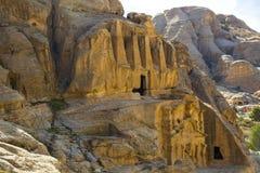 Ancient abandoned rock city of Petra in Jordan Stock Photo