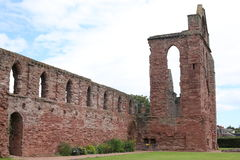 Ancient Abbey Arbroath in Scotland, Great Britain. Historic Abbey Arbroath in Scotland, a majestic estate, Great Britain Royalty Free Stock Photography
