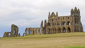 Ancient abbey on the coast Stock Photos
